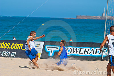Spanish Championship of Beach Soccer , 2006 Editorial Photo