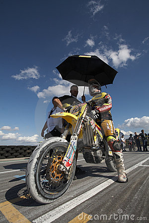 Spanish championship of supermotard Editorial Photo
