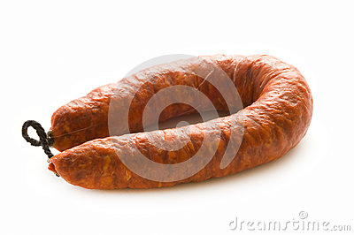 Spanish chorizo pork sausage