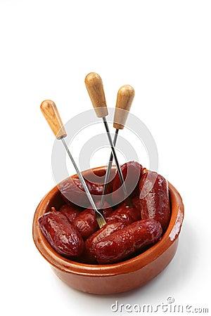 Spanish chorizo tapas