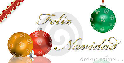 Spanish Christmas greeting card