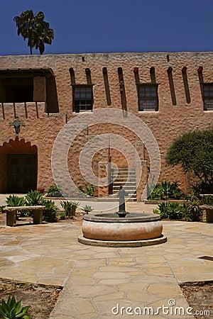 Spanish Church Courtyard