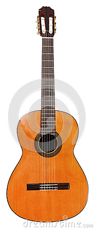 Free Spanish Classical Acoustic Guitar Isolated Stock Images - 40641534