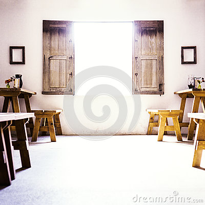 Free Spanish Colonial Room With Low Window And Wooden S Royalty Free Stock Image - 37627466