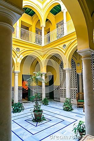 Free Spanish Courtyard Stock Photos - 94574313