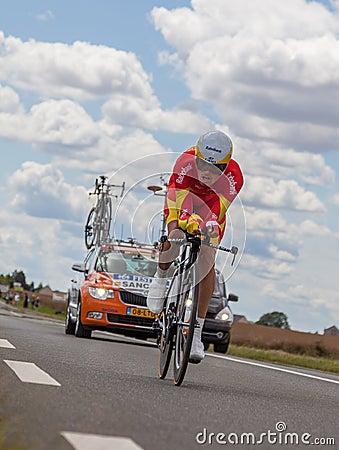 The Spanish cyclist Luis-Leon Sanchez Editorial Image