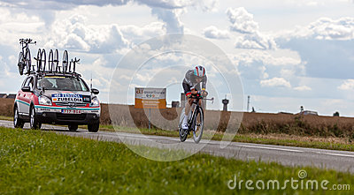 The Spanish Cyclist Zubeldia Haimar Editorial Photo