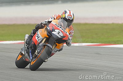 Spanish Dani Pedrosa of Repsol Honda Team Editorial Photo