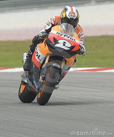 Spanish Dani Pedrosa of Repsol Honda Team Editorial Stock Image
