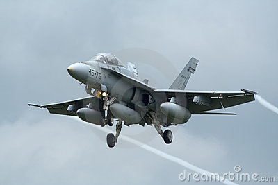 Spanish F-18 Hornet jetfighter Editorial Stock Image