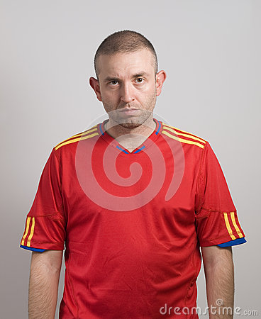Spanish fan after a loss