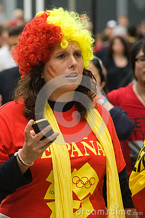 Spanish fan at the olympic park Editorial Image