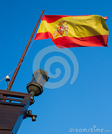 Spanish flag on boat