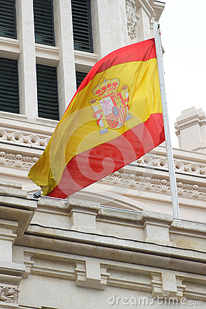 Spanish flag on building