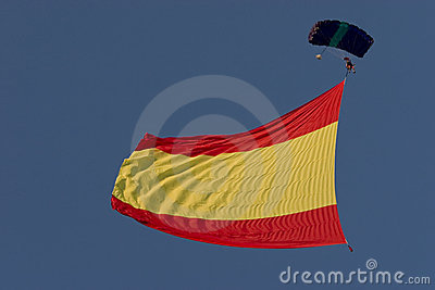 Spanish Flag Flying