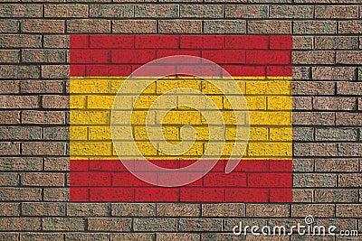 Spanish flag on wall