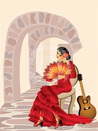 Spanish flamenco woman.