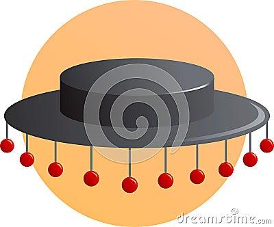 Spanish folkloric or flamenco hat