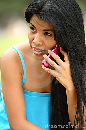 Free Spanish Girl Calling Stock Photo - 3442040