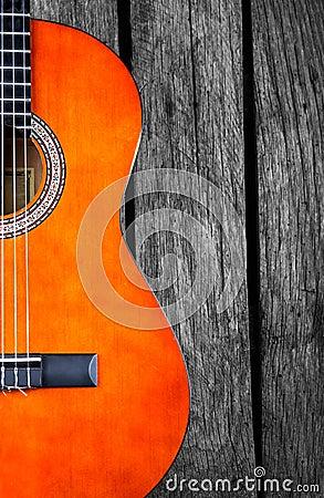 Free Spanish Guitar Wood Background Royalty Free Stock Images - 45019949