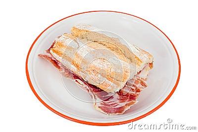Spanish ham sandwich