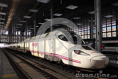 Spanish highspeed train AVE Editorial Photo