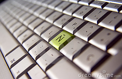 Spanish keyboard close-up
