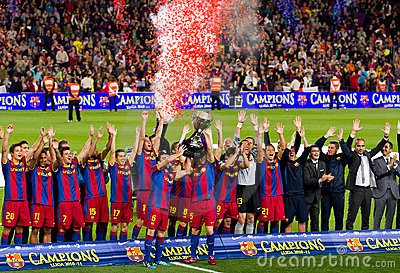 Spanish League Champions 2010-2011 Editorial Photo
