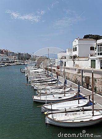Spanish menorca marina