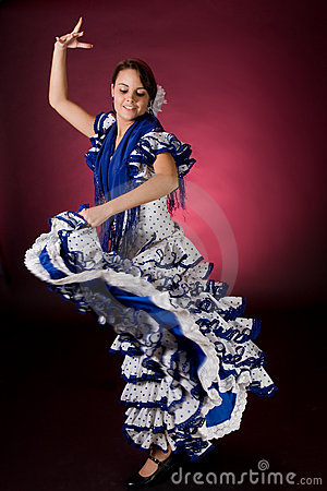 Free Spanish Motion In Blue Royalty Free Stock Photography - 4258807