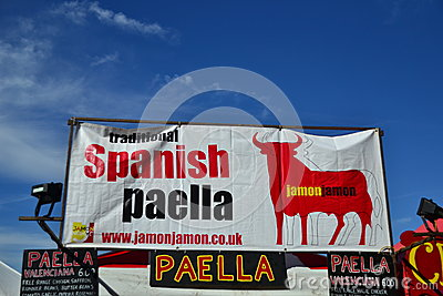 Spanish Paella market place Editorial Stock Photo