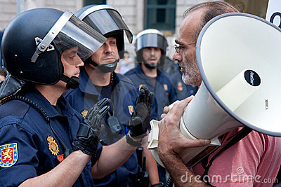 Spanish Protest in Madrid Editorial Image