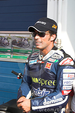 Spanish racer Toni Elias Editorial Stock Photo