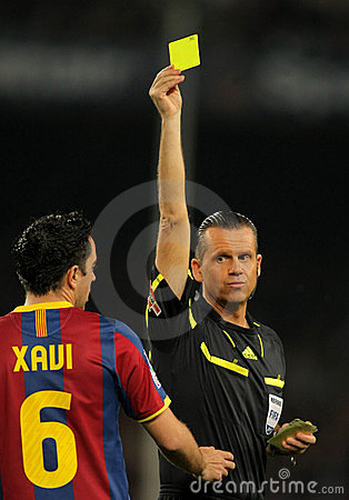 Spanish Referee Muniz Fernandez Editorial Image