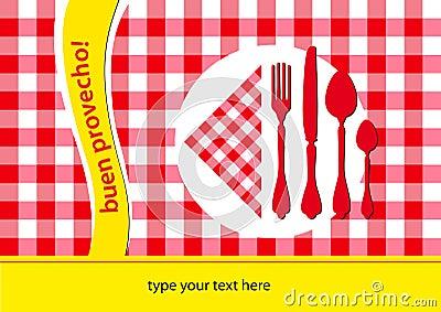 Spanish restaurant table-cloth