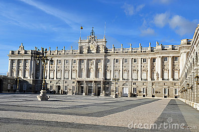 The Spanish Royal Palace in Madrid Spain