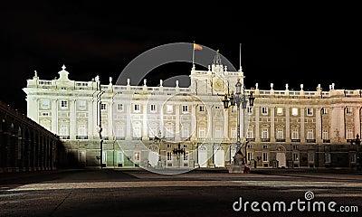 Spanish Royal Palace by Night, Madrid