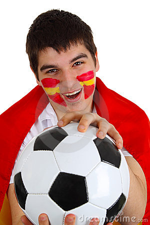 Free Spanish Soccer Fan Stock Images - 14250264