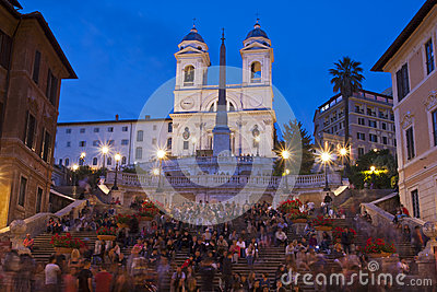 The Spanish Steps Editorial Stock Photo