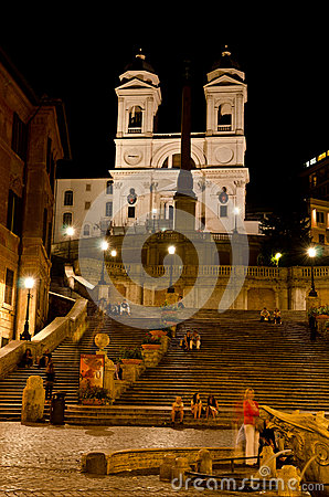 Spanish Steps, Rome Editorial Stock Photo