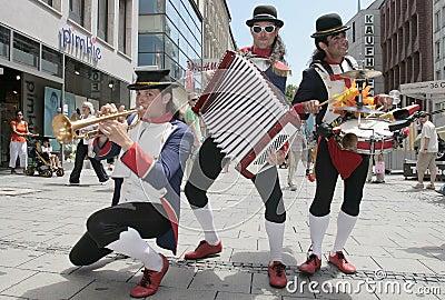 Street musicians in Munich Editorial Stock Photo