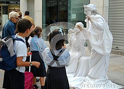 Spanish Street Performers Editorial Stock Image
