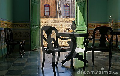 Spanish style room in Cuba