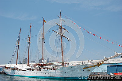 Spanish Tall Ship Editorial Stock Photo