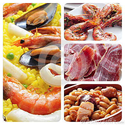Free Spanish Tapas And Dishes Collage Royalty Free Stock Photo - 30026915