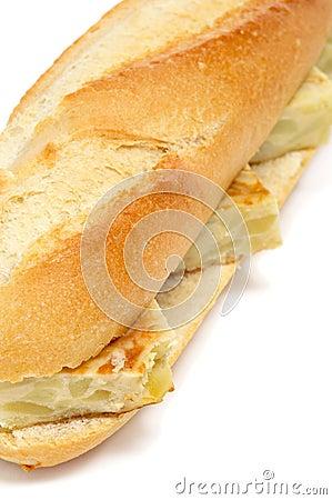 Spanish tortilla de patatas sandwich