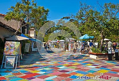 Spanish Village, Balboa Park Editorial Photography