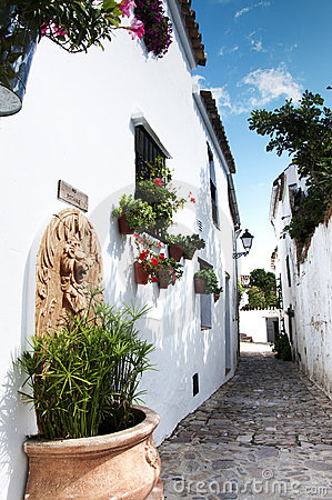 Spanish White Village Road