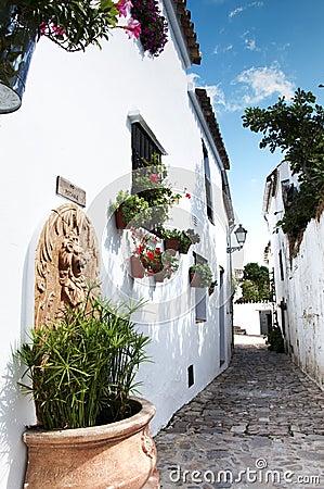 Spanish White Village Road