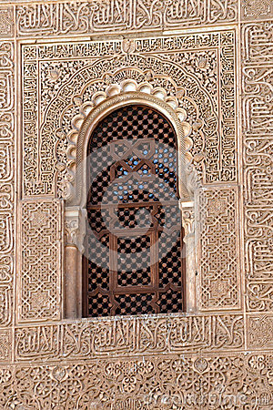 Spanish Window Alhambra Granada Spain